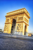 Arc de Triomphe in Paris,. View of famous Arc de Triomphe in Paris, France Royalty Free Stock Photography