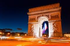 Arc de Triomphe Paris. Arkivfoto