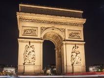 Arc de Triomphe in Paris Stockfotos