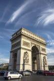 Arc de Triomphe Paris Arkivfoton