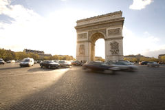 Arc de Triomphe in Paris. The Arc de Triomphe monument in Paris, France Royalty Free Stock Image