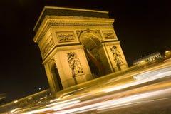 Arc de Triomphe in Paris Stockbild