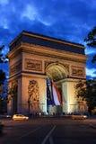 Arc de Triomphe Paris Royaltyfria Bilder