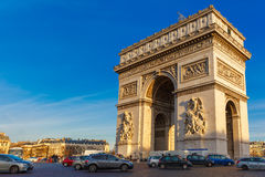 Arc de triomphe Paris afternoon Stock Photo
