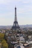Arc de triomphe, Paris. Apr 15 -2015 View from the Arc de Triumph across Paris France Stock Images