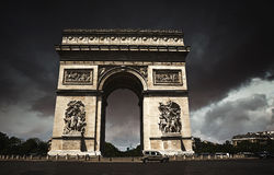 Arc de Triomphe in Paris Arch of Triumph. At France Stock Photo