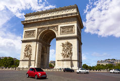 Arc de Triomphe in Paris Arch of Triumph. At France Royalty Free Stock Images