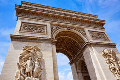 Arc de Triomphe in Paris Arch of Triumph. At France Royalty Free Stock Photo