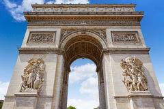 Arc de Triomphe in Paris Arch of Triumph. At France Royalty Free Stock Image