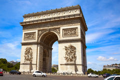 Arc de Triomphe in Paris Arch of Triumph. At France Royalty Free Stock Photography