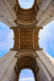 Arc de Triomphe in Paris Arch of Triumph. Low angle view at France Stock Image
