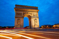 Arc de Triomphe in Paris Arch of Triumph Royalty Free Stock Image