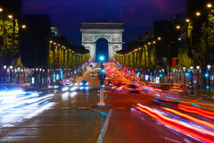 Arc de Triomphe in Paris Arch of Triumph Royalty Free Stock Photo