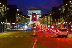 Arc de Triomphe in Paris Arch of Triumph Royalty Free Stock Photography
