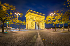 Arc de Triomphe, Paris. On an autumn night Stock Photo