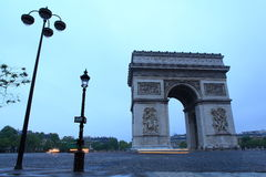 Arc de Triomphe Paris city Stock Photos