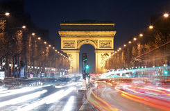 Arc de triomphe Paris city at sunset.  Stock Photography
