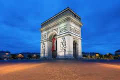 Arc de Triomphe Paris city at sunset - Arch of Triumph. Arc de Triomphe at sunset in Paris, France - Arch of Triumph Royalty Free Stock Images