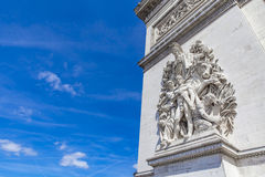 Arc de Triomphe in Paris. Detail of the Arc de Triomphe in Paris, France Stock Images