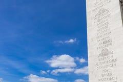 Arc de Triomphe in Paris. Detail of the Arc de Triomphe in Paris, France Royalty Free Stock Images