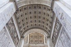 Arc de Triomphe in Paris. Detail of the Arc de Triomphe in Paris, France Stock Photography