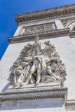 Arc de Triomphe in Paris. Detail of the Arc de Triomphe in Paris, France Stock Photo