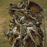 Arc de Triomphe, Paris. Detail on sculpture of Arc de Triomphe Stock Photography