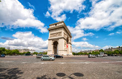 Arc de Triomphe in Paris. Etoile roundabout on a beautiful summe. R day Stock Images