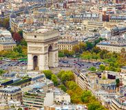 Arc de Triomphe in Paris. France Stock Photo