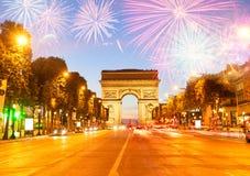 Arc de Triomphe, Paris, France imagens de stock