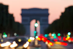 Arc de Triomphe, Paris, France. Out of focus background: Arc de Triomphe, Paris Royalty Free Stock Photos