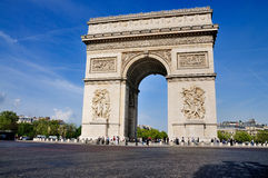 Arc de Triomphe, Paris, France. The Arc de Triomph on the Champs-Elysées in Paris, France Royalty Free Stock Images