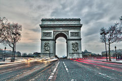 Arc de triomphe in Paris, France. Arc de triomphe on the Charles de Gaulle square in Paris, France Stock Photos