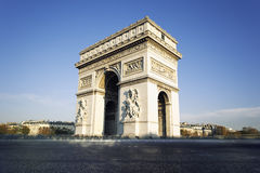 Arc de Triomphe in Paris, France. View of famous Arc de Triomphe in Paris, France Stock Photos