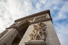 Arc de Triomphe in Paris - France. Close up of Arc de Triomphe in Paris - France Royalty Free Stock Image