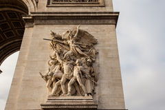 Detail picture of Arc de Triomphe in Paris - France. Arc de Triomphe in Paris - France Stock Photography