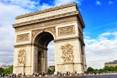 Arc de Triomphe in Paris. Royalty Free Stock Photography