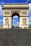 Arc de Triomphe in Paris. France. Royalty Free Stock Images