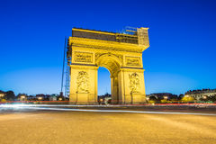 Arc de Triomphe Paris , France Stock Images