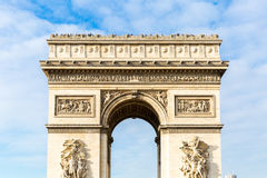 Arc de Triomphe in Paris, France.  Royalty Free Stock Photography