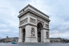 The Arc de Triomphe in Paris Royalty Free Stock Photography