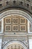 Arc de triomphe in  Paris Stock Images