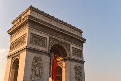 Arc de Triomphe in Paris Royalty Free Stock Photography