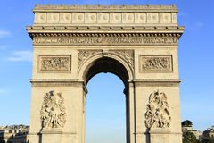 Arc de Triomphe Paris France. Front view Stock Image