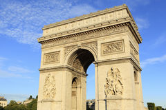 Arc de Triomphe Paris France. Evening light Stock Photography