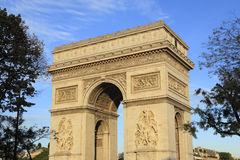 Arc de Triomphe, Paris France. Arc de Triomphe Paris France evening sunlight Stock Images