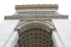 Arc de Triomphe in Paris, France. The Arc de Triomphe in Paris, France Royalty Free Stock Image