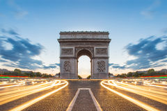 Arc de Triomphe in Paris, France.  Royalty Free Stock Image