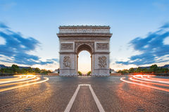 Arc de Triomphe in Paris, France.  Royalty Free Stock Photo