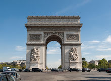 Arc de triomphe in  Paris - France.  Stock Photography